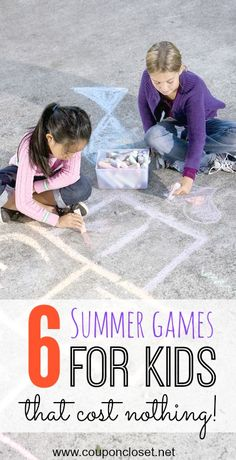 You have a lot of fun without spending a lot of money - here are 6 Summer Games for Kids that won't cost you a thing