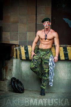 Jakub Matuska -- as Sgt. Matuska of the Army of Abs