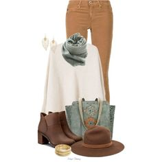 A fashion look from October 2016 by madamedeveria featuring MANGO, AG Adriano Goldschmied, Clarks, American West, Nanette Lepore, Faliero Sarti and rag & bone