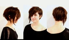 Here, a new look in hairstyle. An Asymmetrical Pixie Cut. Want to have a fresh and trendy look without worrying about your face shapes? Take a look, below!
