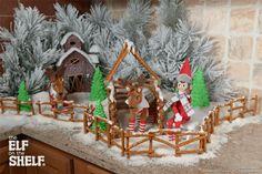 North Pole Barnyard   Elf on the Shelf Ideas   Ideas for Scout Elves