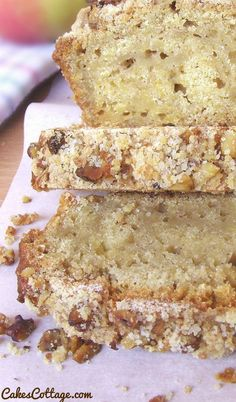 Apple Walnut Streusel Bread