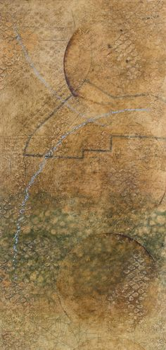 Leslie Pearson | A Way Between Two Places| encaustic on paper on panel /sm
