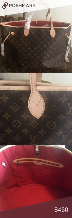 Louis Vuitton Monogram Neverful GM Louis Vuitton Neverful GM Monogram Purse with red interior. This particular one has been ordered and sold. Preorder with me and have your bag in about 2 weeks. Trust me, they are worth the wait. Please contact me with any questions. Happy pshing! 375 with 🅿️🅿️. Louis Vuitton Bags Totes
