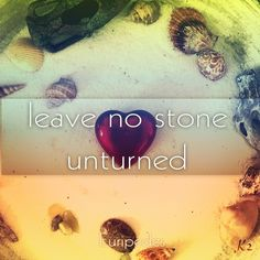Leave no stone unturned *Euripedes* #euripedes #quote #freedome #stone #movement #germany #peace #witchcraft #lovecraft