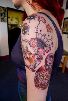1000 images about cute tattoos on pinterest hello kitty for Hello kitty tattoo sleeve