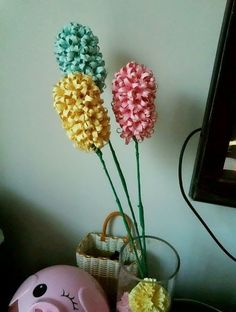 BEAUTIFUL LILY BASED origami Hyacinth flowers.