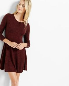 The soft and marled fabrication of this delectable sweater dress is a delectably cute way to stay warm against the elements. With a bit of cashmere luxury, this begs to be paired with scuba leggings.