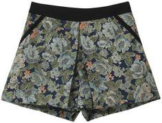 Jacquard print shorts /  ShopStyle(ショップスタイル): 31 Sons De Mode ジャガード花柄ショートパンツ  - shopstyle.co.jp