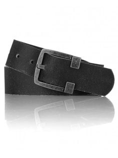 Twisted Soul Mens Black Cracked PU Belt, £12.99