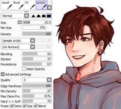 Kkumri's brush settings for coloring