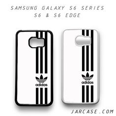 white straight adidas Phone case for samsung galaxy S6