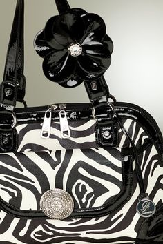 """Grace Adele """"Emma"""" bag + """"Blossom"""" clip-on, in black    Click on picture 2x to see more fashion    https://myfashions.graceadele.us/GraceAdele/Home"""