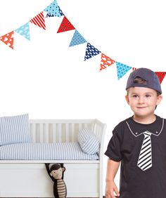Bunting Wall Decals 12 Pack - Ship to Shore