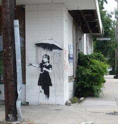 15 Banksy Graffiti Art by Guardian Please give your comments about this graffiti image, Thanks. Banksy Graffiti, Street Art Banksy, Graffiti Artwork, Bansky, Graffiti Girl, Urban Graffiti, Famous Graffiti Artists, Street Artists, Nova Orleans