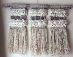 Weaving Art, Tapestry Weaving, Loom Weaving, Hand Weaving, Creative Textiles, How To Make Diy, Woven Wall Hanging, Yarn Needle, String Art