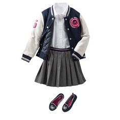 Prep School Pleats - Love, love, love this look! Have to get the letter jacket for the girls. LOVE! #BackToSchool
