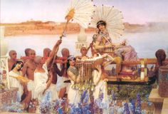 "Sir Lawrence Alma Tadema - ""The Finding of Moses""- WikiPaintings.org"