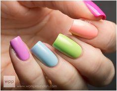 Kolorowe paznokcie - Kobieca strona internetu - ekartki, someecards, demotywatory, cytaty, teksty, sentencje, życiowe, motywacyjne, teksty, besty.