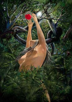 Garden of Eden: the and the Victor Ostrovsky. Adam Et Eve, Serpieri, Garden Of Eden, Deviant Art, Bible Art, Erotic Art, Watercolor Art, Fantasy Art, Cool Pictures