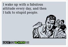 What spoils a fabulous attitude
