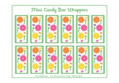 Free Garden Party Mini Candy Bar Wrappers