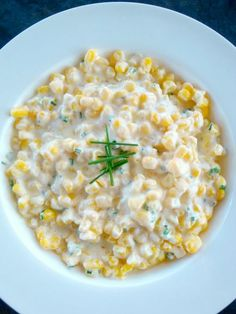 Cream Corn. This delicious side dish comes together in less than ten minutes and is fabulous!