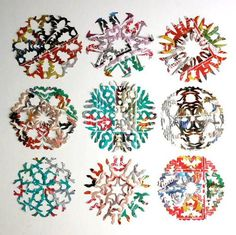 Junk Mail Paper Snowflakes   Learn how to make paper snowflakes from your mail!