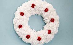 Pom Pom Jingle Bell Christmas Wreath