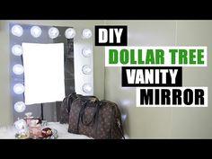 (57) DOLLAR TREE DIY VANITY MIRROR | Large DIY Vanity Mirror Tutorial | Dollar Store DIY Glam Room Decor - YouTube
