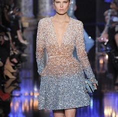 Glitter Ombré dress by Elie Saab couture