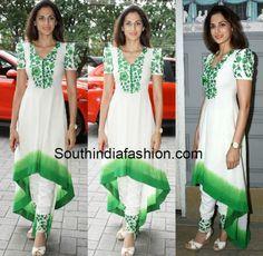 Shilpa Reddy in Khadi High Low Anarkali