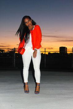 Orange Chanel inspired Tweed jacket | Major Must Haves