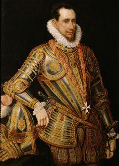 ab. 1585 Dutch artist - Portrait of a Maltese... | History of fashion in art & photo