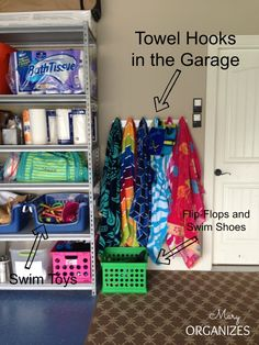 Maintain An Organized Garage - An Organized place for swim stuff