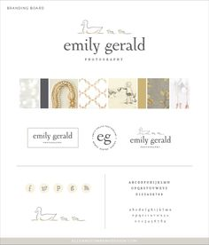 Brand style board for Emily Gerald Photography - Elle & Company