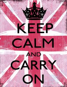 Louise Carey - Keep Calm And Carry On - art prints and posters