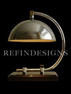 Rohde Deskey Art Deco Streamline Machine Age Modern Chrome Black Table Lamp 1930   eBay