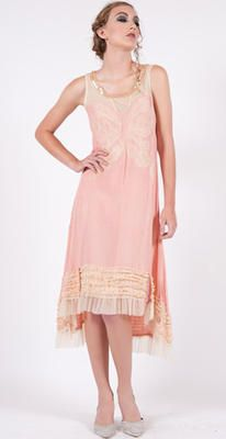 154 Butter/Pink Nataya Butterfly Dress