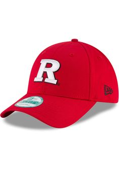 lowest price 4c283 cddf2 New Era Rutgers Scarlet Knights Mens Red The League 9FORTY Adjustable Hat -  5905264