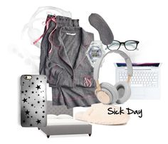 """""""SICK DAY"""" by fear-faye on Polyvore featuring interior, interiors, interior design, home, home decor, interior decorating, Pottery Barn, UGG Australia, Kate Spade and Victoria's Secret"""