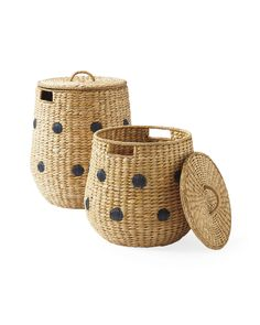 Explore the Serena & Lily storage collection today and discover beautiful designer storage bins and woven storage baskets to organize your home. Basket Weaving, Hand Weaving, Basket Decoration, Decorating Small Spaces, Interior Decorating, Wicker Baskets, Woven Baskets, Wicker Basket With Lid, Painted Baskets