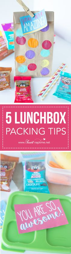 Pinterest: 5 Lunchbox Packing Tips... get ready for back-to-school with these great tips to help organize lunch packing and make them fun! @curatesnacks # tastecurate # ad
