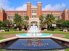 Florida State University fountain at Westcott Building. A beautiful campus in a laid back capital city, Tallahassee. Florida State University, Florida State Seminoles, College Campus, College Life, Disney College, College Humor, Colleges In Florida, Dream School, Alma Mater