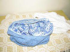 Tricô Perfeito: Bolsa Azul e Branca