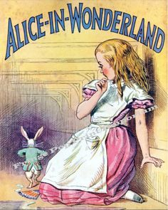Victorian Alice in Wonderland Book Print Lewis Carroll