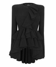 Black Wave Ruffle Jacket!!! Omg. Fab!!!!!!!!!