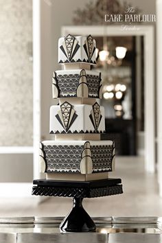 Black and White Cake by Art Deco