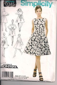 Project Runway Simplicity Pattern 0345 by ThatsSewSandra on Etsy