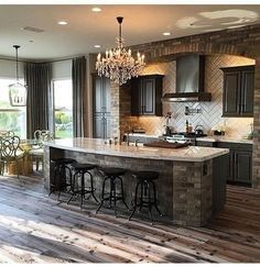 The best kitchen design ideas that you can try 29 Home Decor Kitchen, New Kitchen, Kitchen Ideas, Cheap Kitchen, Kitchen Interior, Ranch Kitchen, Kitchen Layouts, Country Kitchen, Kitchen Brick